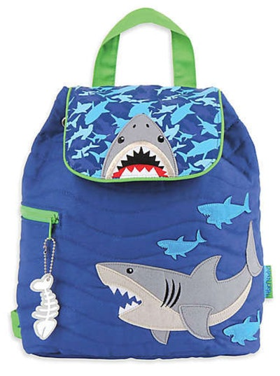 Shark Quilted Backpack in Blue
