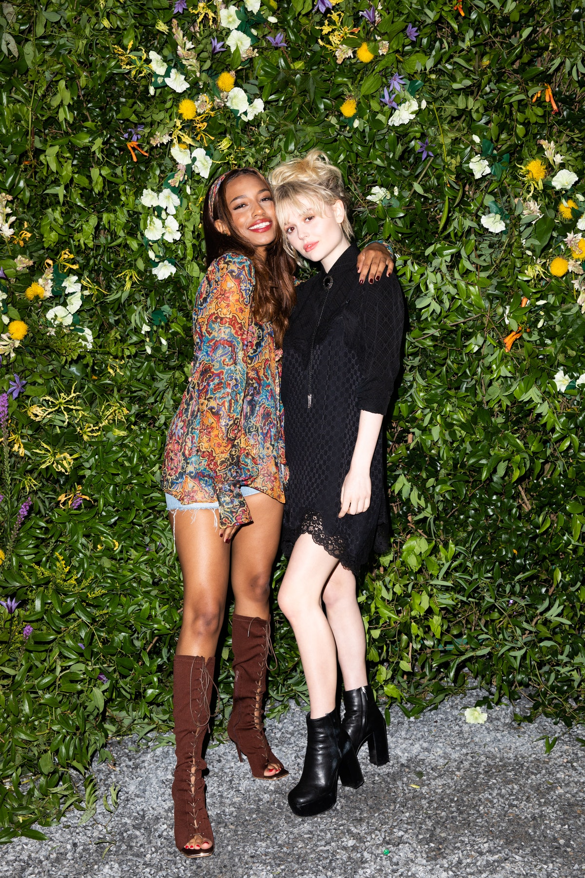Savannah Smith and Emily Alyn Lind at a Gucci party