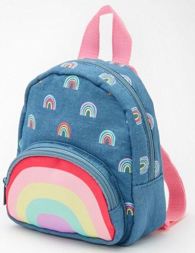 Claire's Club Hello Sunshine Small Denim Backpack