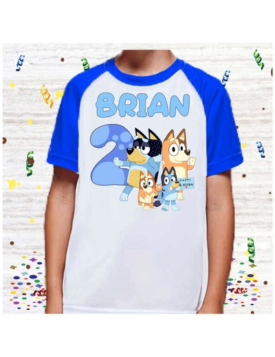 MommaMiasApparelShop Bluey Birthday Party Shirt