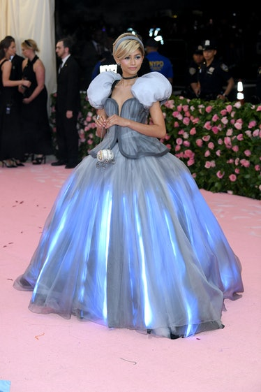 Zendaya dressed as Cinderella.