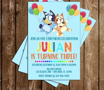Bluey Birthday Party Invitation