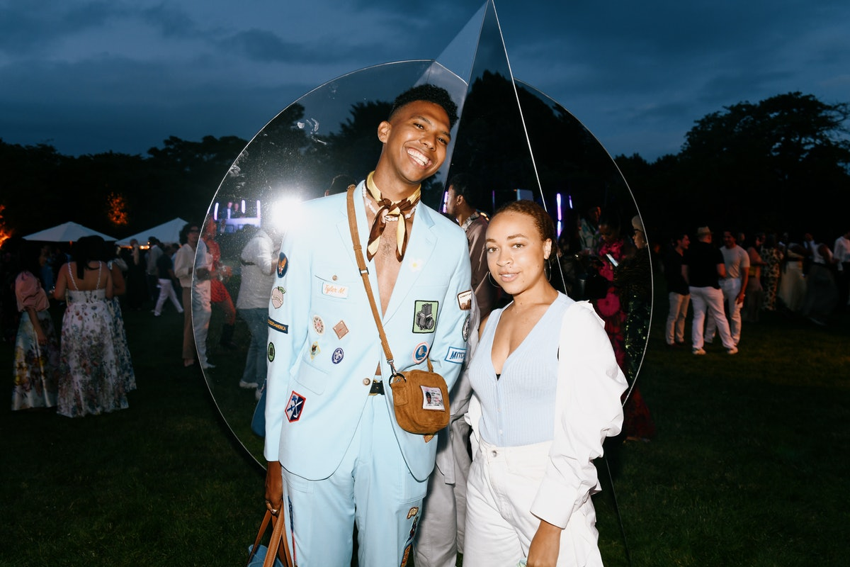 Tyler Mitchell and Satchell Lee at a Gucci party