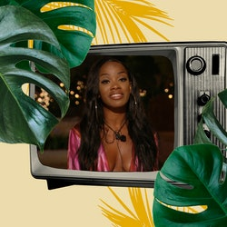 Love Island's Rachel leaving the villa