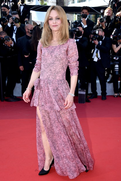 """Vanessa Paradis attends the """"De Son Vivant (Peaceful)"""" screening during the 74th annual Cannes Film Festival on July 10, 2021 in Cannes, France."""