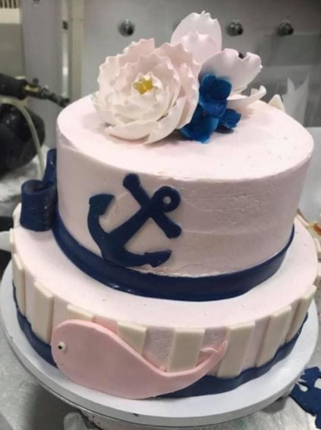 Anchor baby shower cake