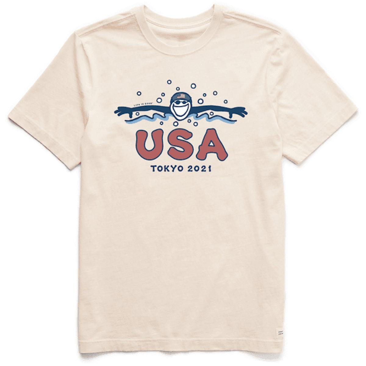 Men's Jackie USA Swimmer 2021 Short Sleeve Tee