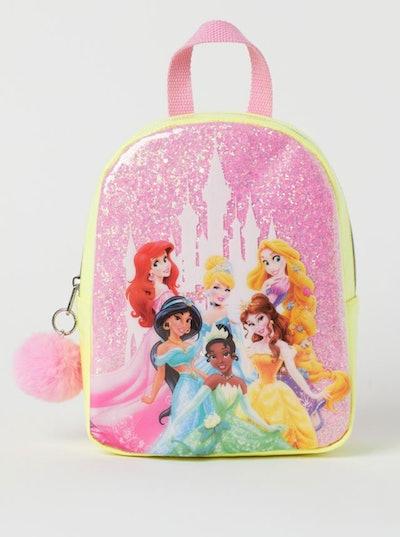 Glittery Printed Backpack
