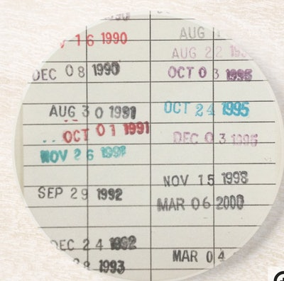 Vintage Library Due Date Cards Drink Coaster