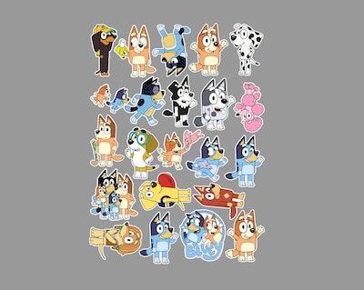 PaperCraftsByLizz3 Bluey Stickers