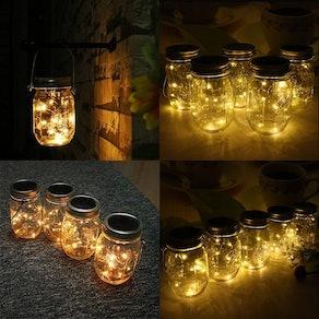 CHBKT Solar-powered Mason Jar Lights (4 Pack)