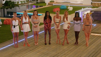 The girls at recoupling ceremony in 'Love Island' 2021