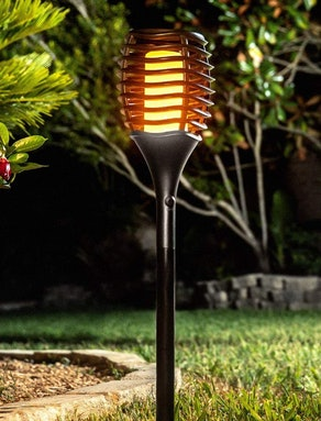 Fuego Lights Solar Tiki Torches