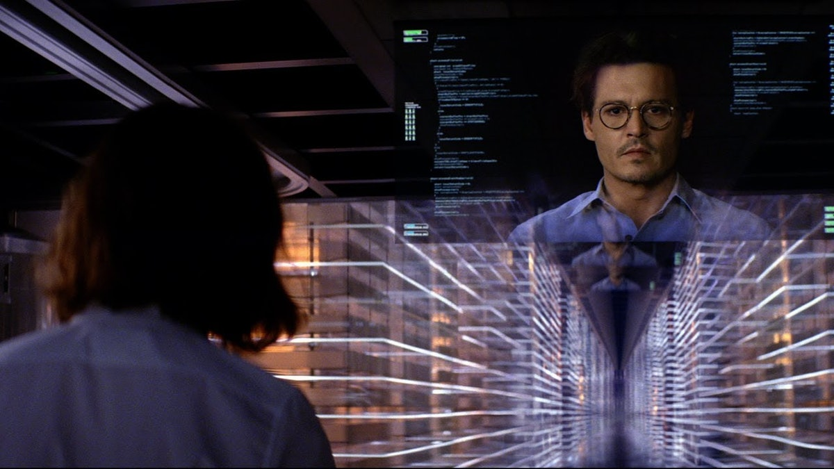 Human immortality as embodied by Johnny Depp in Transcendence (2004).