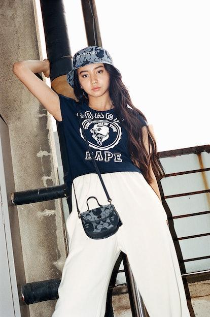 Koki for Coach x Bape collaboration.