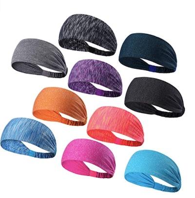 DASUTA Sports Headbands (10-Pack)