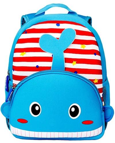 Toddler Backpack, Waterproof Preschool Backpack - Whale