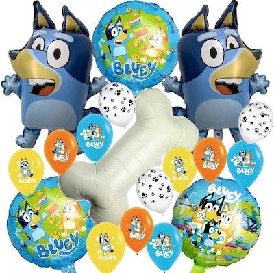EasyWayUS 18-piece Bluey Foil Balloons
