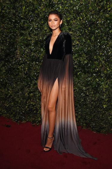 Zendaya in ombre dress.