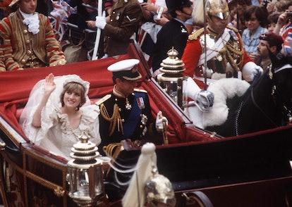 Princess Diana & Prince Charles on their wedding day.