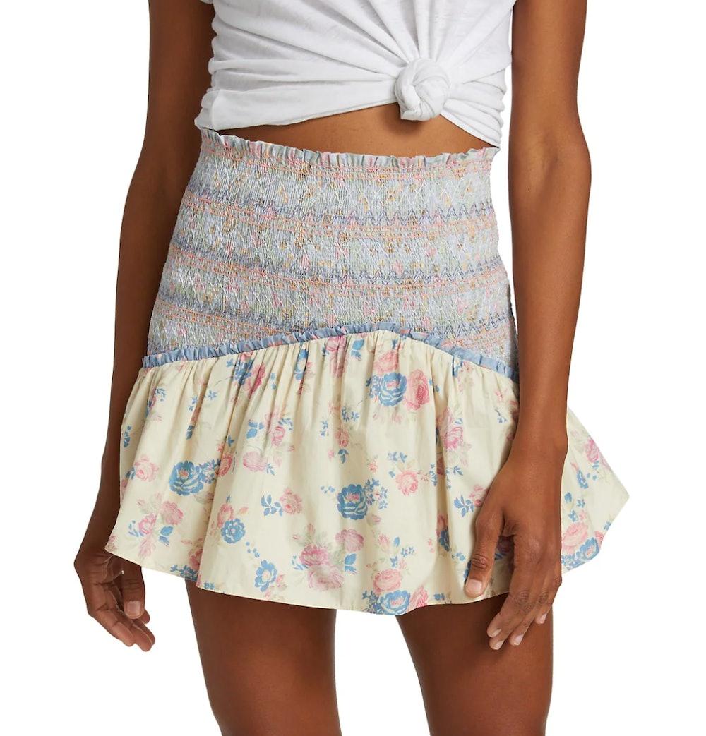 Anguilla Smocked Mini Skirt