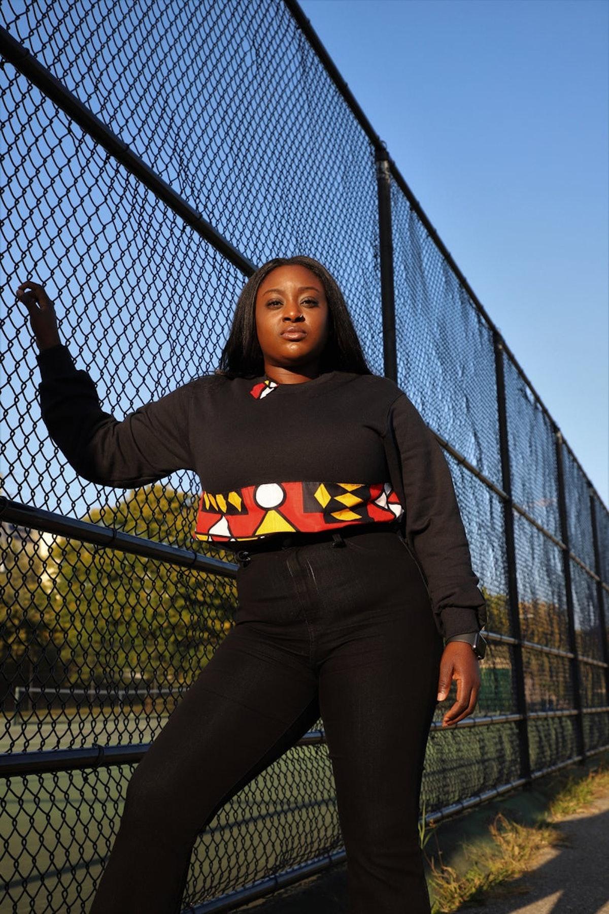 Northern Ashanti African Print/Kente Soft Warm Crop Sweater