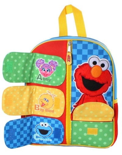12-inch Elmo Kids' Backpack Sings The ABC's