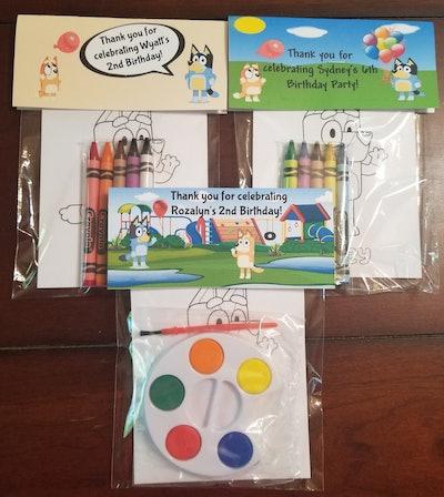 SandTFavorsAndMore Kids Coloring Or Painting Card Set Favors