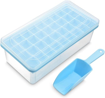 Yoove Silicone Ice Cube Tray With Lid & Bin