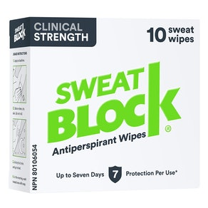 SweatBlock Clinical Strength Antiperspirant Wipes (10-Count)