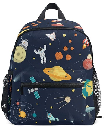 Toddler Bag With Chest Clip - Space Universe
