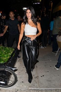 Kourtney Kardashian is seen in SoHo on September 29, 2018 in New York City.