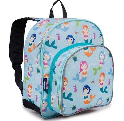 12.5-inch Olive Pack 'n Snack Kids' Backpack - Blue Mermaids