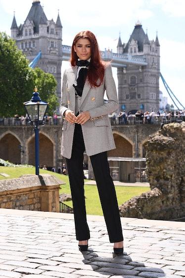 Zendaya in blazer.