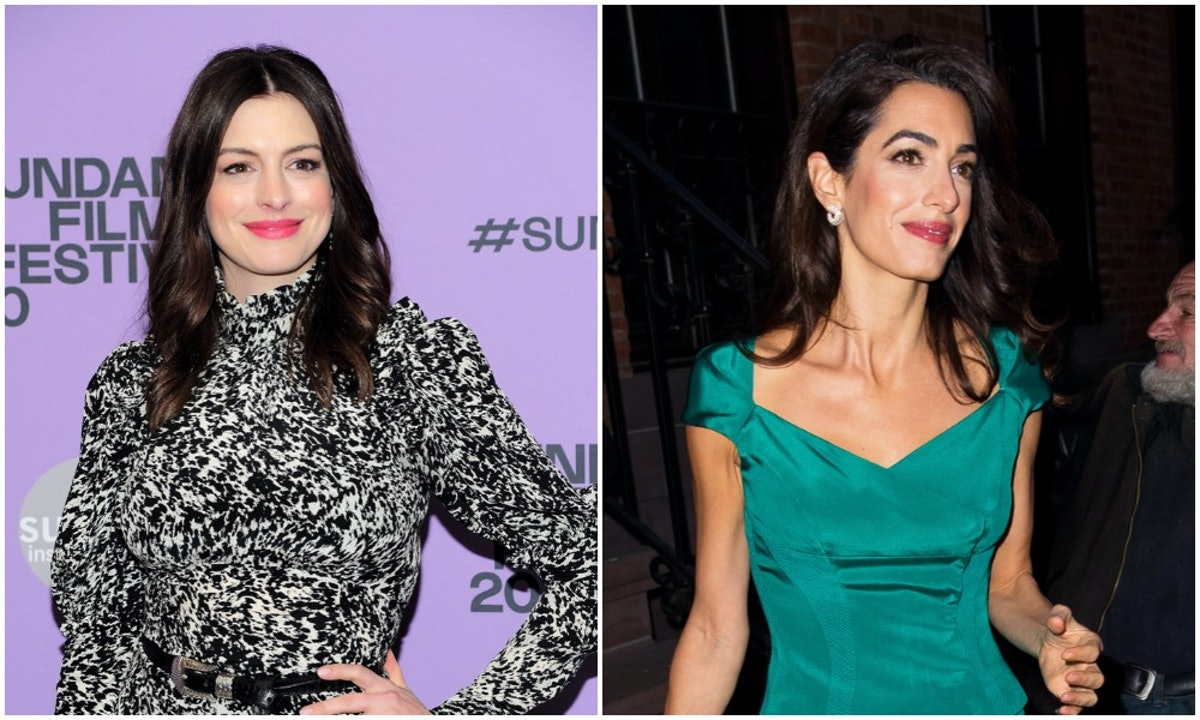 Anne Hathaway and Amal Clooney are frequently compared to one another.