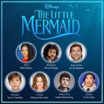 The cast line up of The Little Mermaid
