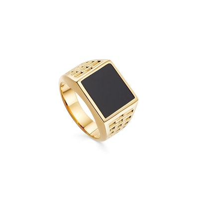 Woven Square Signet Ring