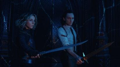 Tom Hiddleston as Loki and Sophia Di Martino as Sylvie heading towards some of the biggest easter eg...