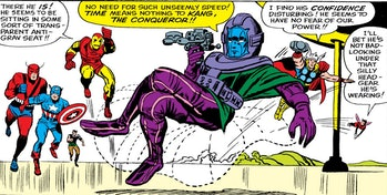 Kang the Conqueror lounging in Avengers #8