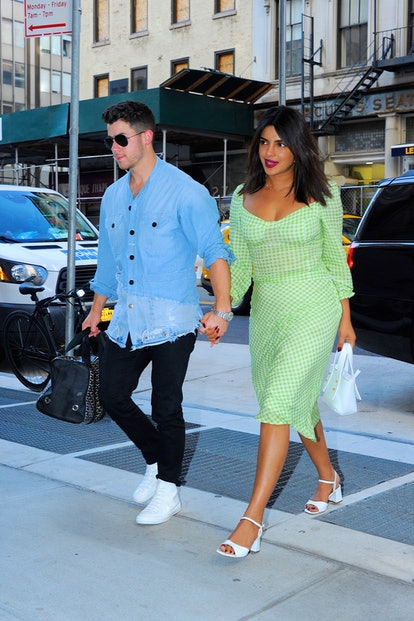 Nick Jonas and Priyanka Chopra seen out and about in Manhattan on August 30, 2019 in New York City.