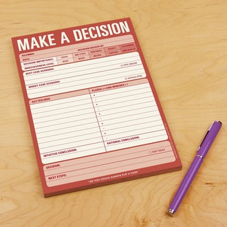 Knock Knock Make A Decision Checklist Note Pad