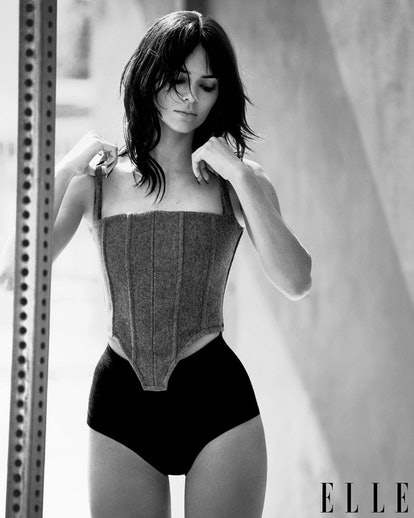 Kendall Jenner curtain bangs Elle Magazine
