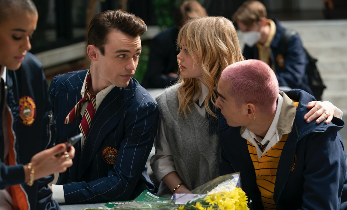 Audrey, Aki, and Max's love triangle on 'Gossip Girl' is bound to erupt in drama.