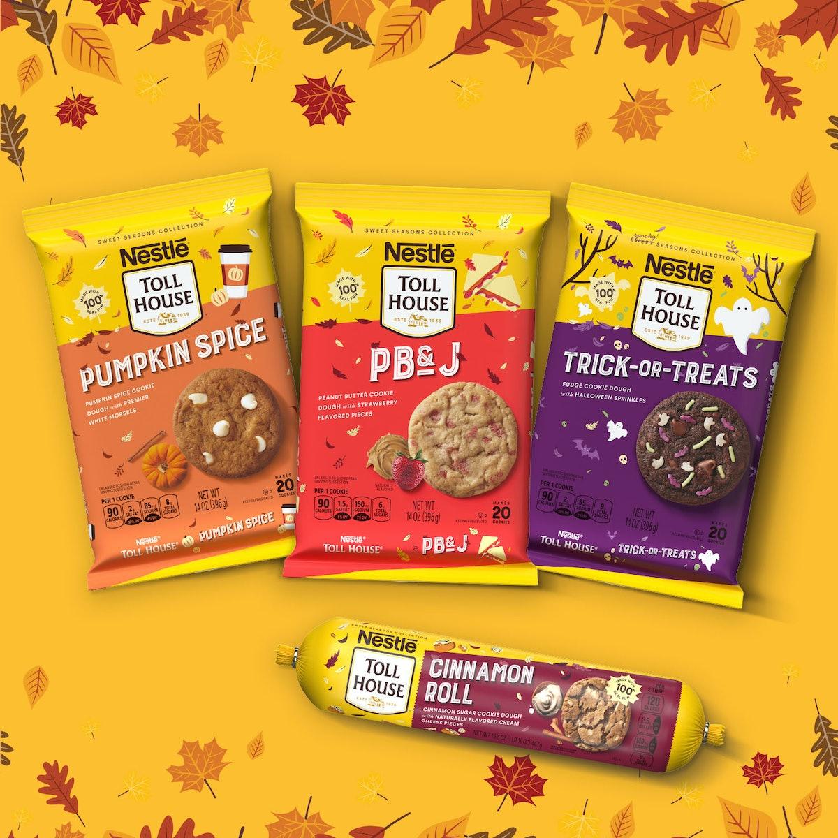 Nestlé Toll House's fall 2021 cookie dough flavors include seasonal bites like Pumpkin Spice and Cin...
