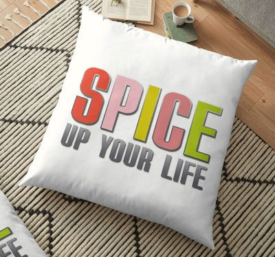 Spice Up Your Life 90s Floor Pillow