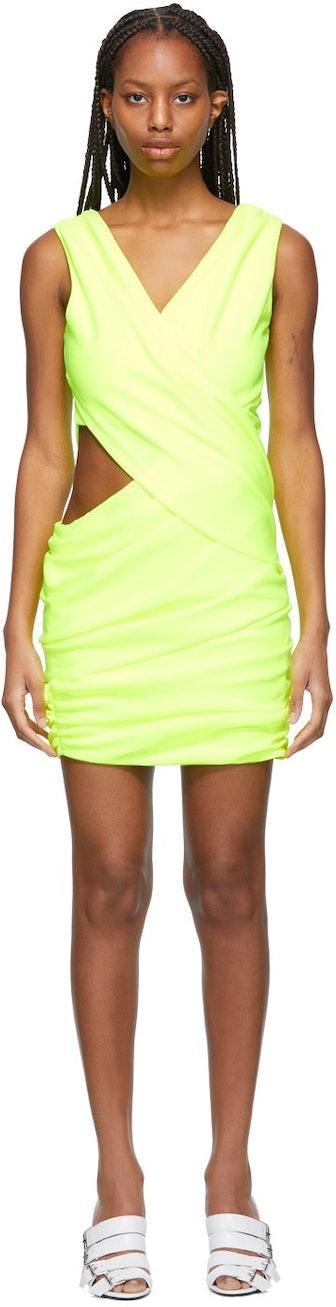 Yellow Draped Dress