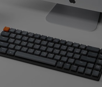 keychron k7 mechanical keyboard with low profile switches