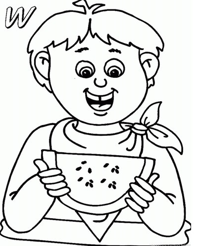 watermelon coloring page