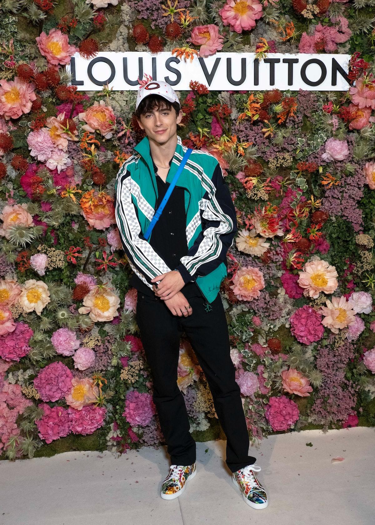Timothée Chalamet wearing Louis Vuitton