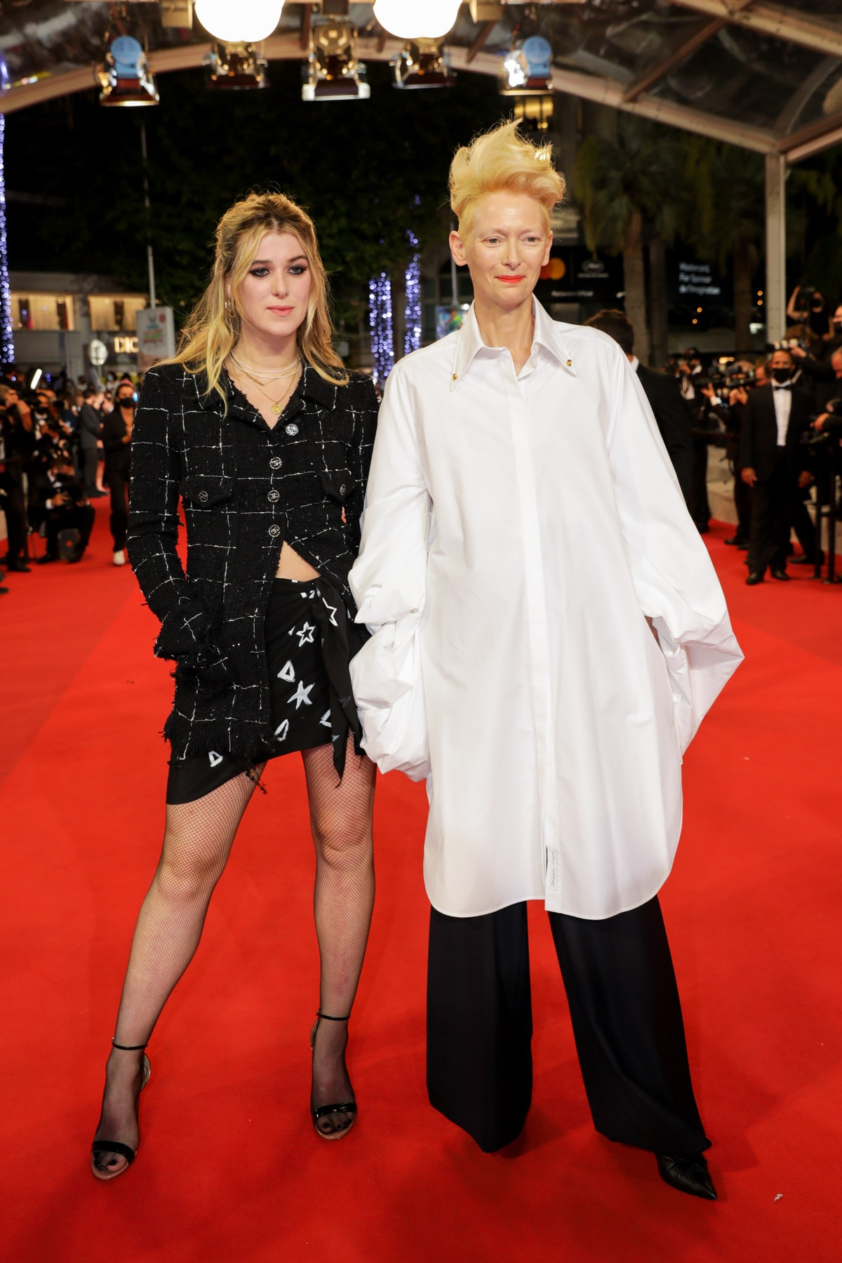 Honor and Tilda on the carpet